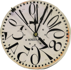 Image Is Loading Backwards Clock Vintage Style Rustic Alice In Wonderland