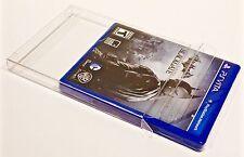 10  PS VITA Box Protectors  Custom Clear Display Cases Sleeves Playstation Games