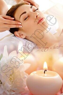 Nail Salon Poster Facial Relaxing Wall Art Beauty Sign Massage Therapy Poster Ebay