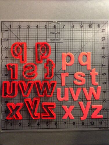 Arial Bold Font Lowercase Cookie Cutter Set