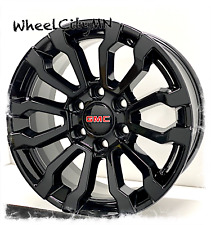 18 Inch 2020 Fits Gmc Sierra 1500 At4 Gloss Black Oe Replica Wheels 6x55 24