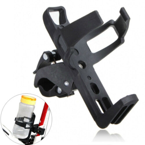 Motorcycle Bicycle Drink Water Bottle Cup Holder Mount Cage Quick Release Black