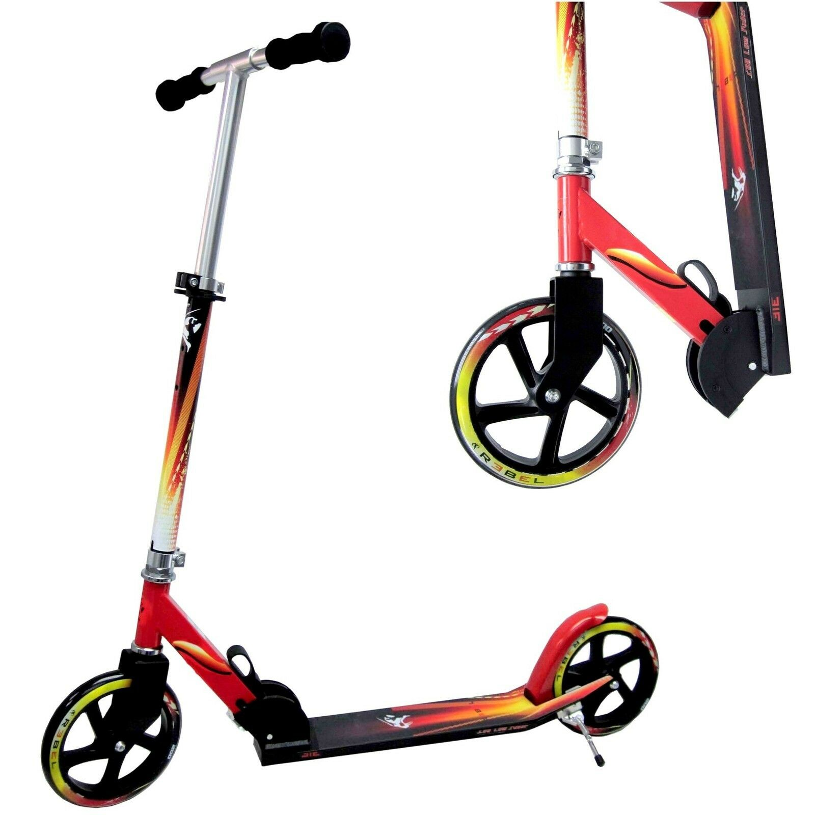 Scooter Rebel Niedrig Rider Big wheel 205 Roller Trotinette Spezial Angebot