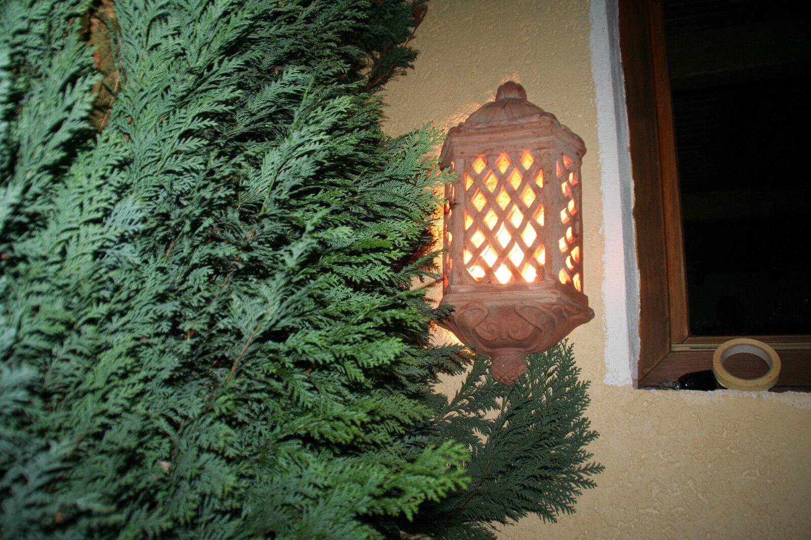 Terracotta Wandlampe terrakotta Leuchte mit Lampenfassung 59 x 28 cm br.