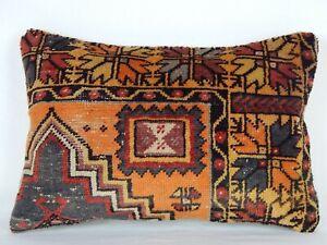Antique Oushak Pillow,Cushion Cover,Ethnic Pillow,Carpet Pillow,Lumbar Vintage Pillow,Vintage Home Decor,16x24inches,40x60 cm