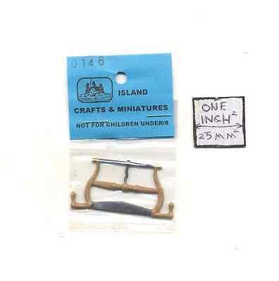 Buck Frame Saw 1//12 scale dollhouse cast metal miniature tool ISL0146