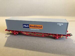 1-Stueck-Piko-57710-Containertragwagen-034-P-amp-O-Nedlloyd-NL-DB-Lgns-fuer-Maerklin-AC