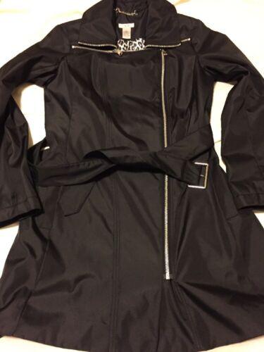 Noir Trench Cache Jacket Moto S Nice Nwot p8EwxqC5p