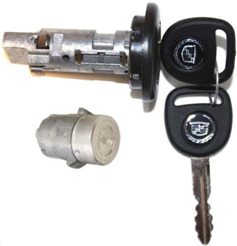 DOOR LOCK CYLINDER 2 KEYS NEW CADILLAC OEM IGNITION SWITCH LOCK CYLINDER