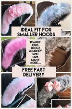 Pushchair Pram Fur Hood trim for orb/  Spin / Venicci  / Icandy SMALLER HOODS