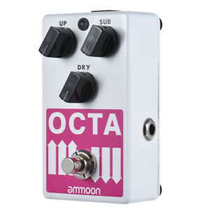 Details about Polyphonic Octave Generator Effect Pedal Octave & Dry True  Bypass Metal New Q0Z0