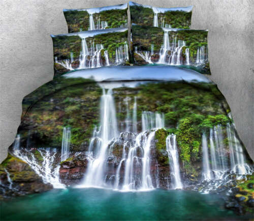Majestic Waterfall 3D Printing Duvet Quilt Doona Covers Pillow Case Bedding Sets