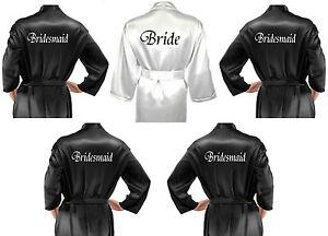 da sposa Pack nera Vestaglie personalizzati in Abiti nuziale Multiple sposa dFU1awxa
