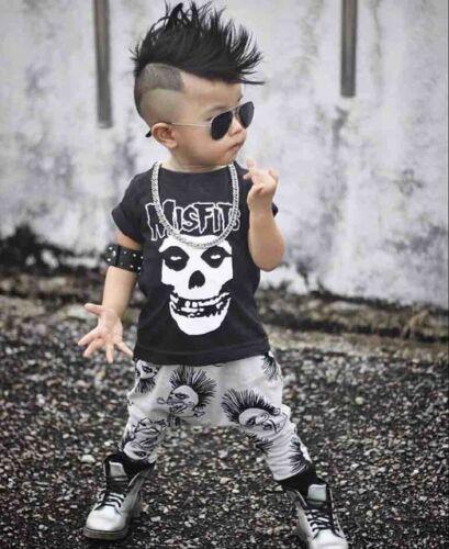 Misfits Trendy S//S T Shirt and Pants Set 100/% Fine Cotton 6-9 months 70cm