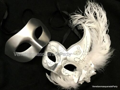 Wider Mens Masquerade ball mask Pair Festival Bachelor Birthday Costume Party