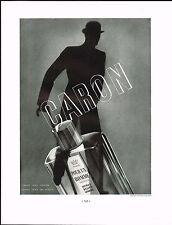 1934 BIG Vintage Caron Pour Homme Parfum Perfume Fragrance Bottle Art Print Ad