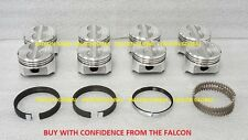Chevy 5.0/5.0L/305 Sealed Power Cast Flat Top Pistons+MOLY Rings Set/Kit +.030""