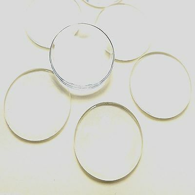 10 CLEAR GLASS ROUND DOMED CAMEO CABOCHON 25mm DIY Pendant Crafts