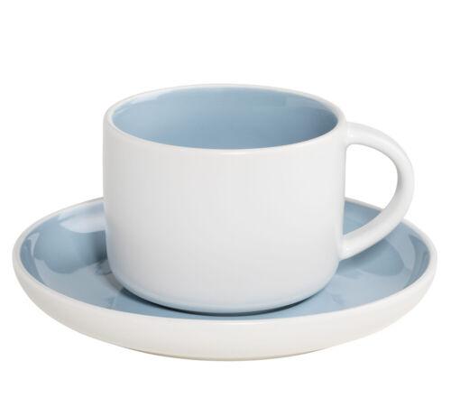 DI0117 Porzellan TINT Tasse HELLBLAU mit Untertasse 220 ml Maxwell /& Willi