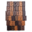 Letterpress-Print-Blocks-by-Tim-Holtz-Idea-ology-35-Pieces-1-Inch-Letters-and thumbnail 1