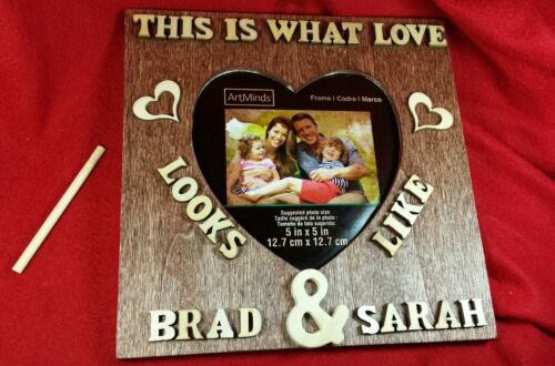 """Personalized Wedding Picture Frame w//Name7/""""x7/"""" Romantic Wedding Gifts for Couple"""