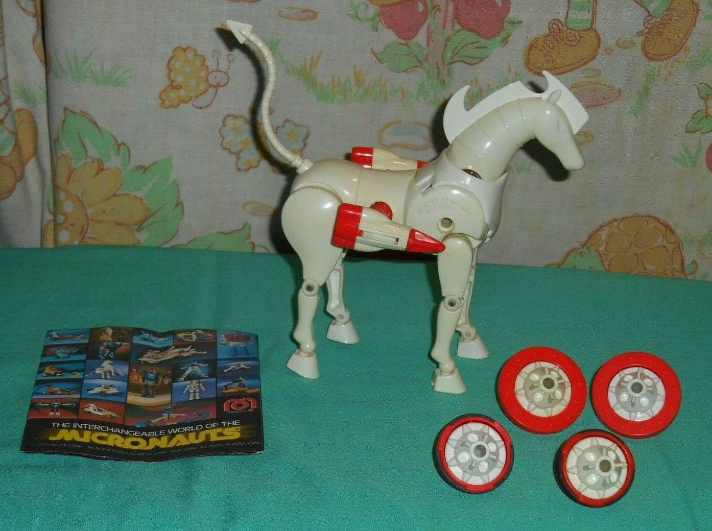 Vintage Mego Micronauts OBERON horse with brochure