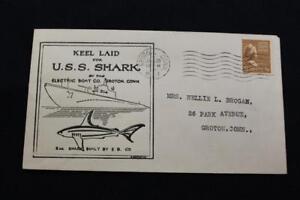 Naval-Cubierta-Guerra-Mundial-2-1943-Maquina-Cancelado-Keel-con-Diseno-US-Shark