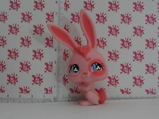 FIGURINE LITTLEST PETSHOP PET SHOP LPS * LAPIN LIEVRE ROSE * # 500 REF 105