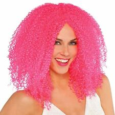 Pink Cool Clown Crimped Wig Hair Style Circus Sweetie Monster Halloween Jester