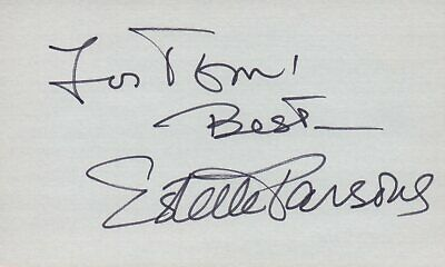 Entertainment Memorabilia Intellective Estelle Parsons Actress Singer 1976 Tv Movie Autographed Signed Index Card Autographs-original