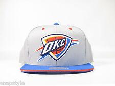 New NBA Oklahoma City Thunder Mitchell& Ness Tip Off Two Tone Grey Logo Snapback