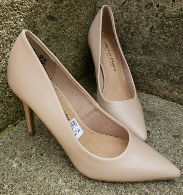 CHRISTIAN SIRIANO for Payless Womens Size 7.5 Pumps Light Blush Tan NWOB