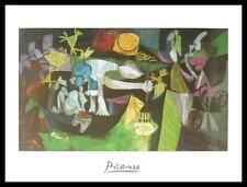 Pablo Picasso Night Fishing at Antibes Poster Bild Kunstdruck und Rahmen 80x60cm