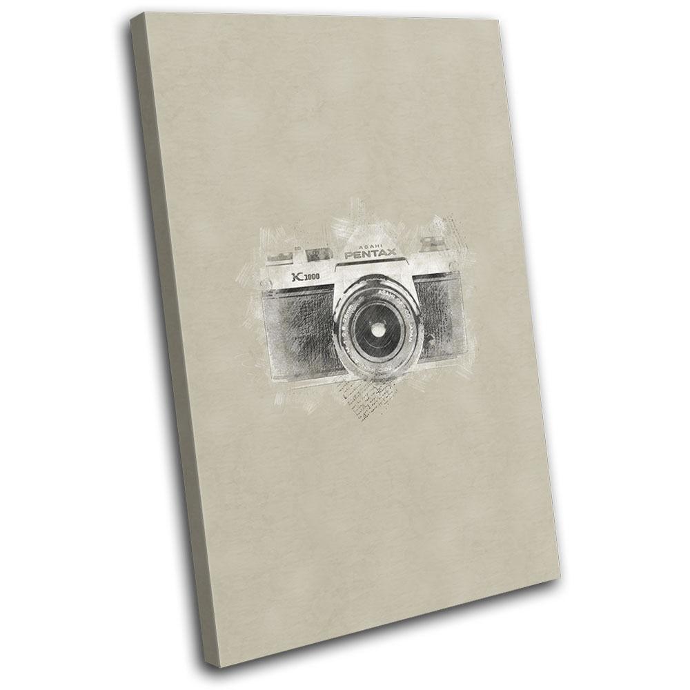 Rustic Retro Old Camera SLR Vintage SINGLE Leinwand Wand Kunst Bild drucken