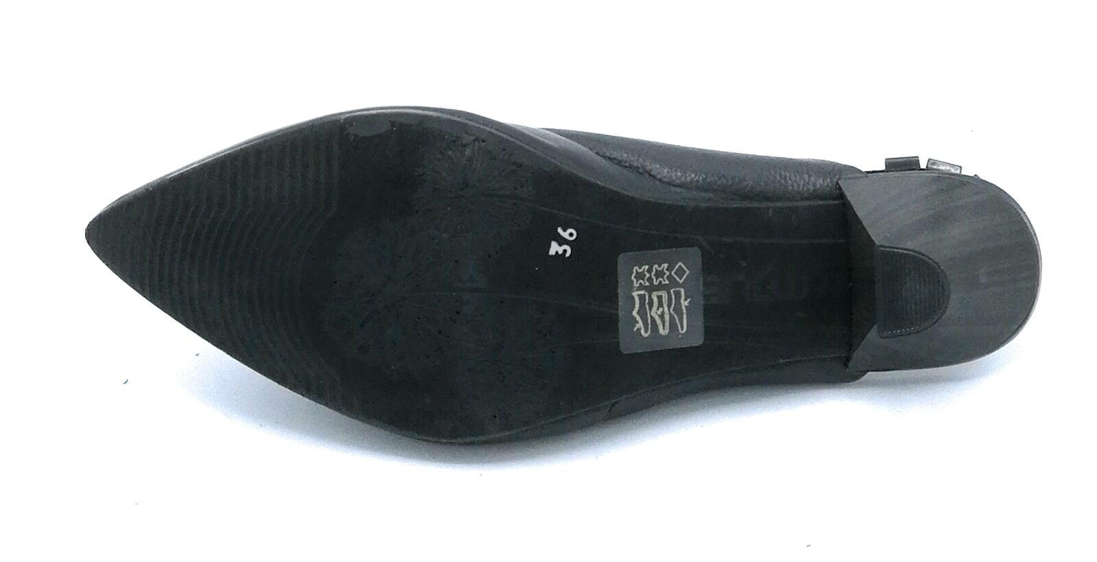 Mjus 715110 Holzschuhe Holzschuhe Holzschuhe Quaste Schwarz Fersenriemen 4 CM c7db49