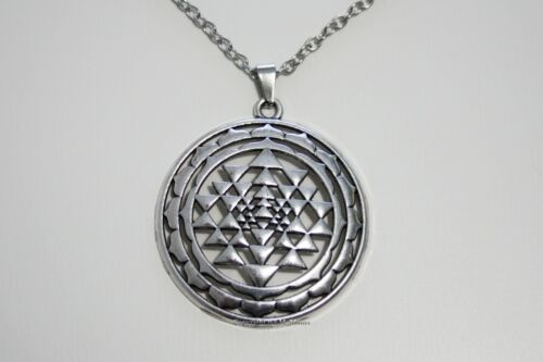Sri Yantra Mandala Necklace Pendant Meditation Buddhist Chain