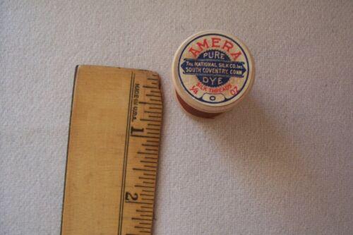 1  Vtg Antique Wooden Spool Sewing Silk thread  Amera The National Silk Co