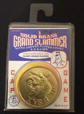 Solid Brass Grand Slammer Steve Sax K Hitter Cap Game