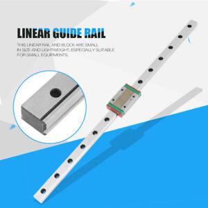 1x-350mm-Miniatur-MGN12H-Linearfuehrung-mit-Gleitblock-fuer-3D-Printer-CNC