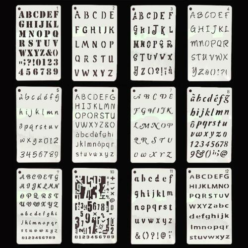 Lettering Stencils Alphabet Number Template Craft Shapes Drawing Stencil C