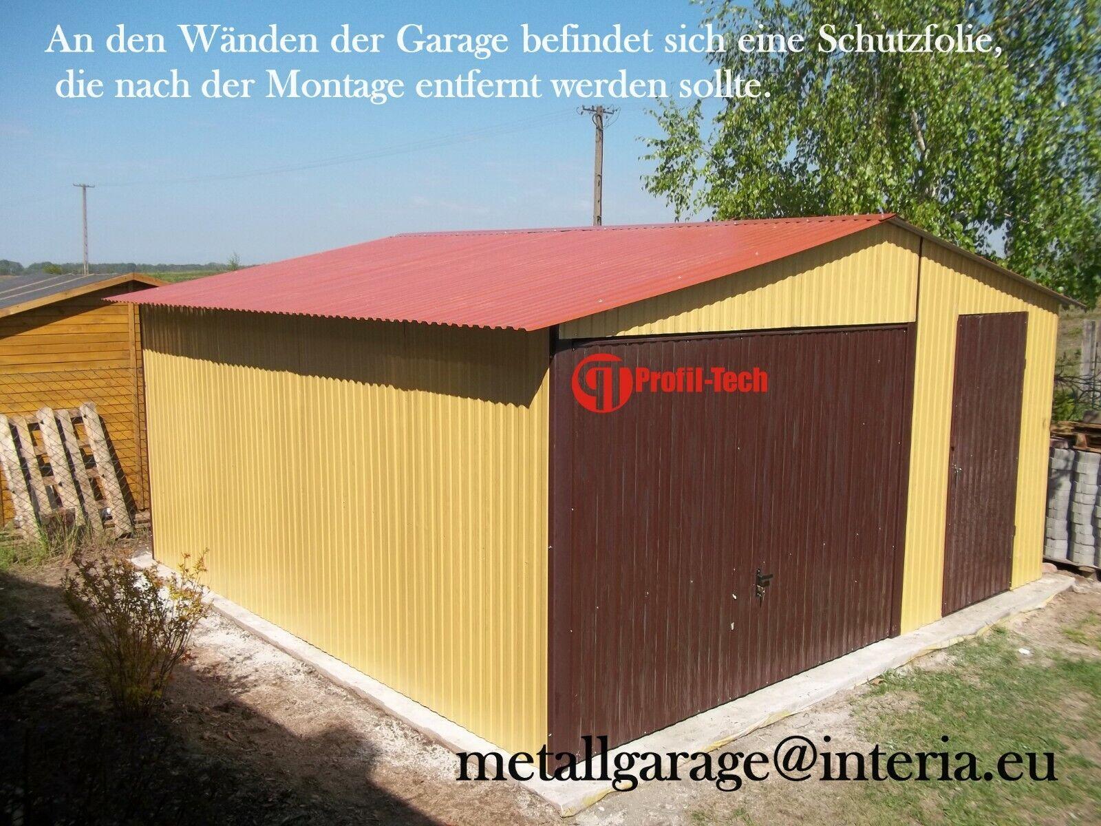 4x4 Blechgarage Fertiggarage Metallgarage LAGERRAUM RAUM KFZ GARAGE CONTEINER