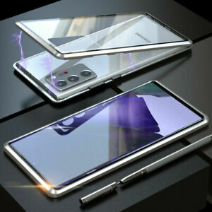 360° Magnetic Double-Sided Glass Case For Samsung Galaxy S21 S20 S10 S9 S8 Note