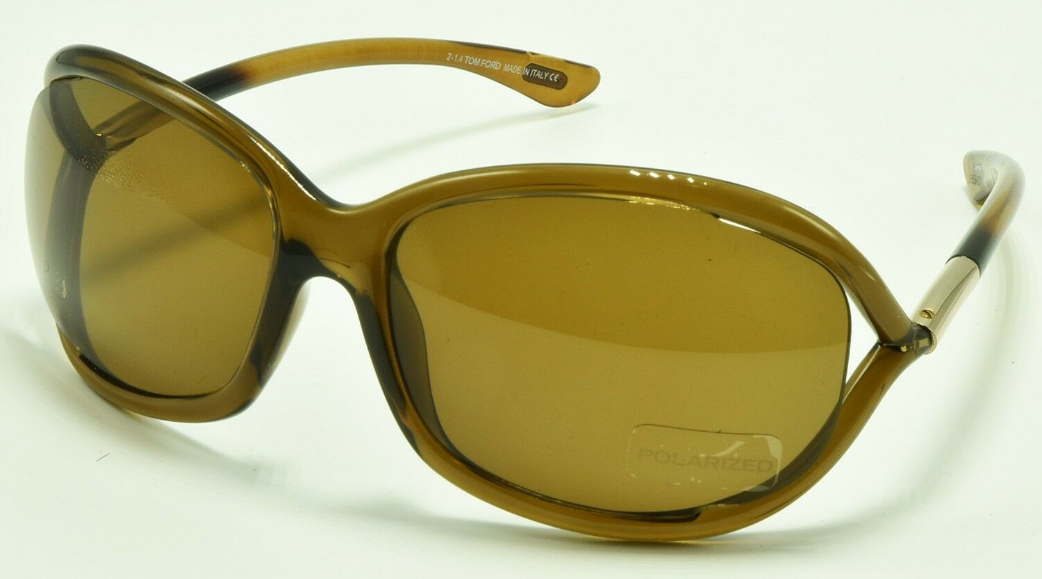 ee7cb39e49 Buy Tom Ford Jennifer TF 8 48h Transparent Brown Polarized ...
