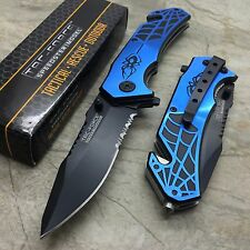 Tac Force Blue Spider Pocket Knife with Glass Breaker