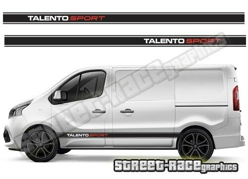 Fiat Talento sides 004 van racing stripes decals vinyl graphics
