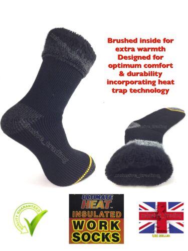 Da Uomo Calore Termico Calzini insulaters 2.3 Tog rating Taglia 6 - 11 di spessore lavoro caldo Regno Unito