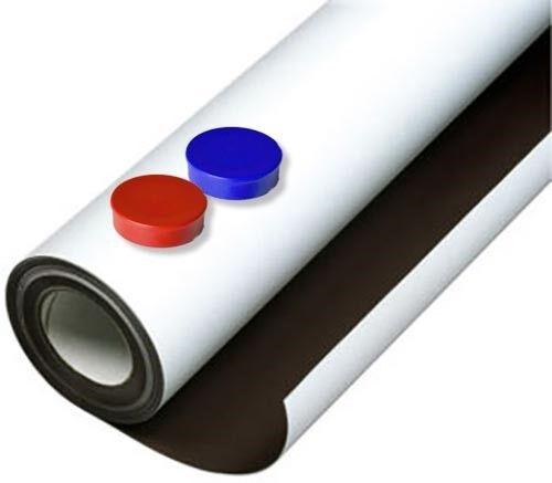 Eisenfolie Ferrofolie selbstklebend weiß matt 0,6mm x 31cm x  31cm