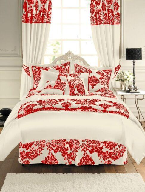 Royal Armask Damask Faux Silk Duvet Cover Quilt Bedding Set Microfibre Flocking