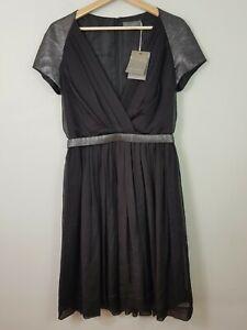 [ AURELIO COSTARELLA ] Womens Black Silk Dress NEW | Size 2 or AU 10 / US 6