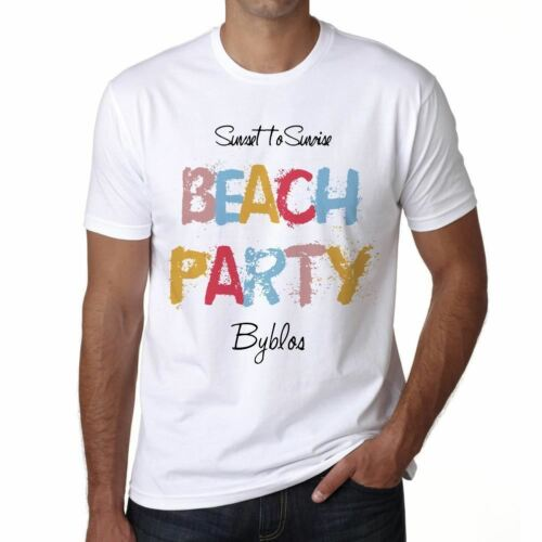 Byblos Beach Party Herren T-shirt Weiß  00279